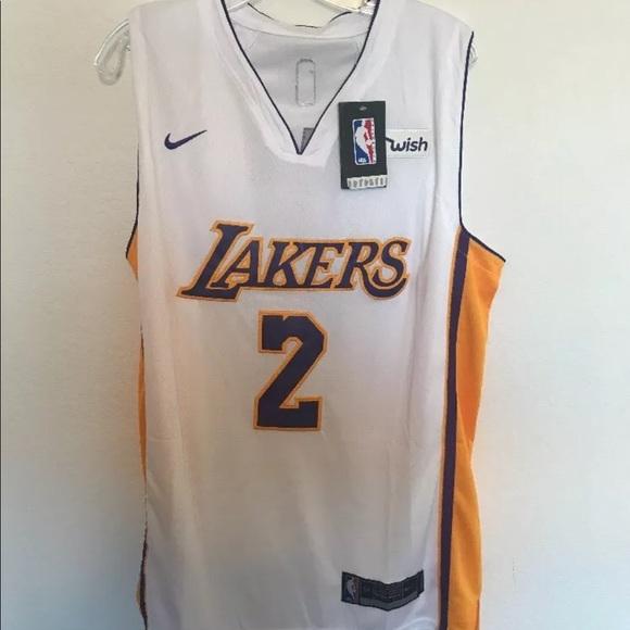 size 40 55404 88deb Lonzo Ball Nike swingman LA Lakers Jersey White NWT